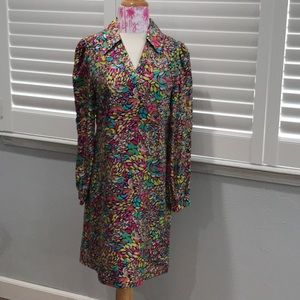 LILLY PULITZER SILK STAINED GLASS DRESS